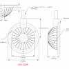F800BM Soft Foot Pedal Dimensions
