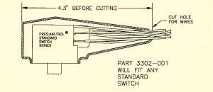 Pressure/Vacuum Switch Boot