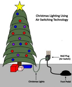 Christmas Light Foot Switch
