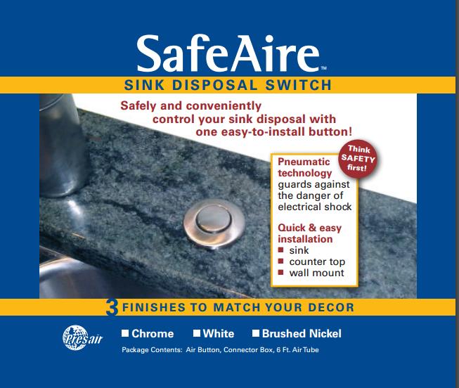 Sink Disposal Push Button Air Switch Presair