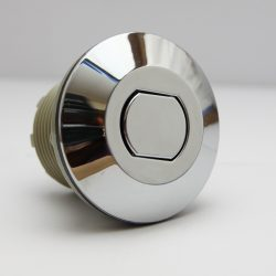 B225CF Push Button Air Acutator, Chrome