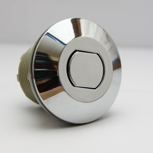 B225CF Push Button Air Acutator, Chrome