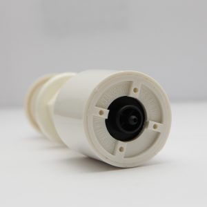 B513WS White Push Button Air Actuator Short Stem