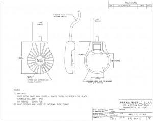 Shell Shape Hard Foot Pedal