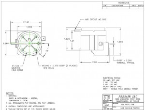 Standard Pressure Switch Drawing