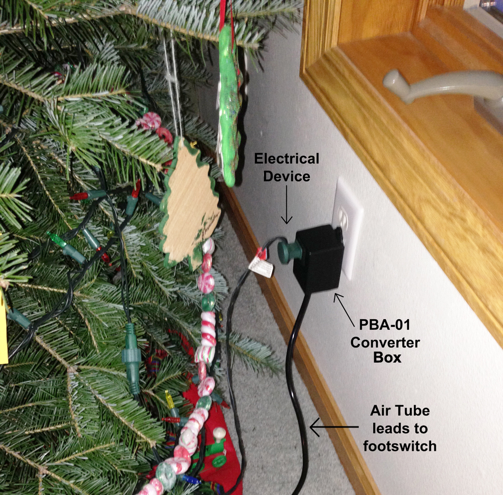 Christmas Lights Foot Pedal Air Switch