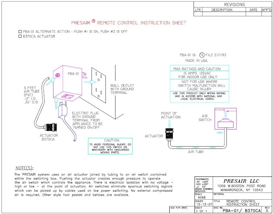 PBA 01 B370CA garbage disposal air switch, push button momentary switch presair badger garbage disposal wiring diagram at reclaimingppi.co