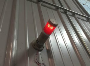 Pressure Alarm notification, Stack light pressure alert