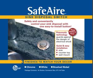 Sink Disposal Push Button Air Switch, Garbage Disposal Push Button Air Switch,