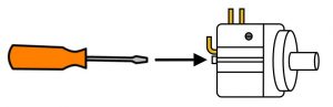Adjust set screw for pressure switch