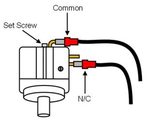 How to connect wires to a pressure switch